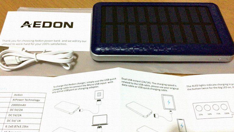 Aedonの超大容量モバイルバッテリーを購入!(20000mAh)