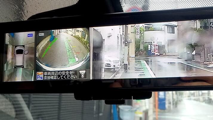 タイムズカーシェアの車にバックミラーモニター!斬新!!