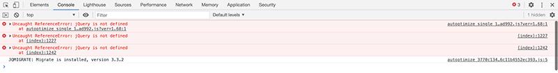jQuery is not defined WordPress5.6でJSエラー(Autoptimize)