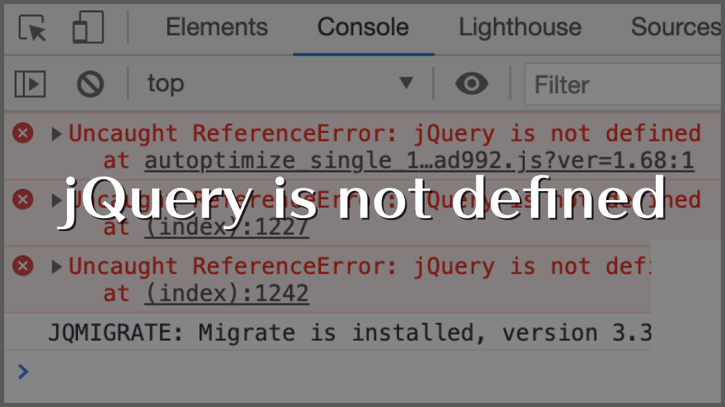 jQuery is not defined|WordPress5.6でJSエラー(Autoptimize)